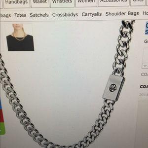 Coach silver choker necklace